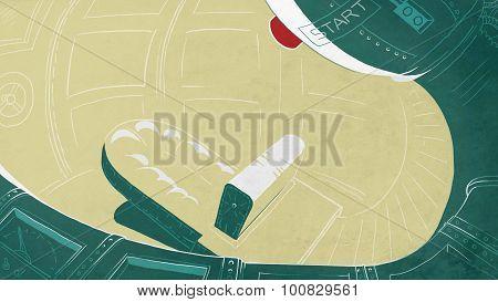 Futuristic Rocket Cockpit.