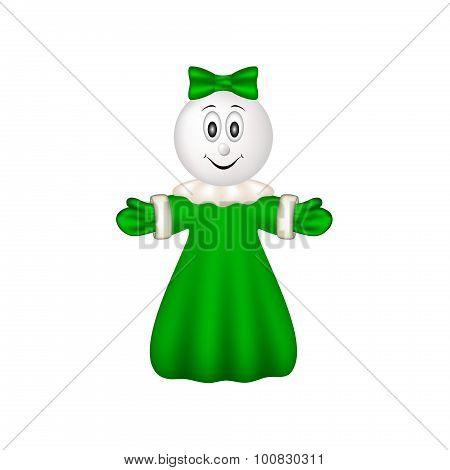 Hand puppet with smiling face