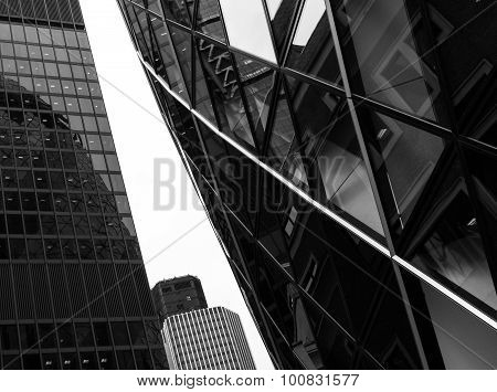 Modern Building Centre Vertical Abstract Design With Details