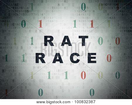 Finance concept: Rat Race on Digital Paper background