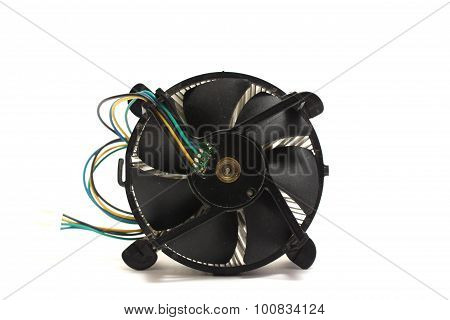 The Motherboard Fan On White Background