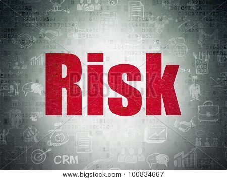 Business concept: Risk on Digital Paper background
