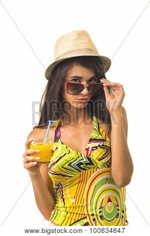 Nice slim lady in the straw hat.