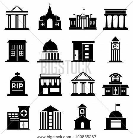 public building icons