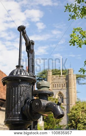 Iron water pump, Hambledon.