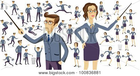 Business People Silhouettes Business People Silhouettes Women Men Work