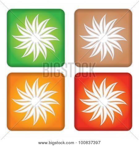 Set Of Leaf Illustration.