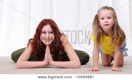 Young Mother And Daughter
