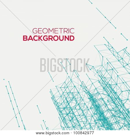 Abstract connect geometric background