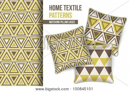 Pattern And Set Of Decorative Pillows