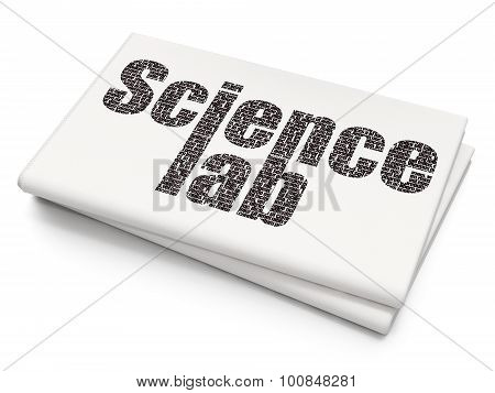 Science concept: Science Lab on Blank Newspaper background