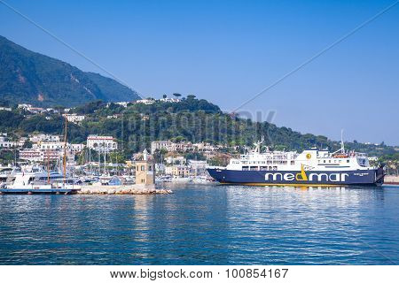 Port View Of Casamicciola Terme, Ischia Island