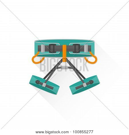 Color Alpinism Equipment Harness Icon Illustration.
