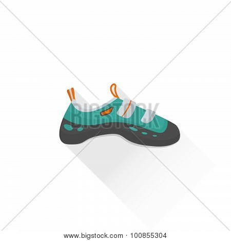 Color Alpinism Equipment Shoes Icon Illustration.