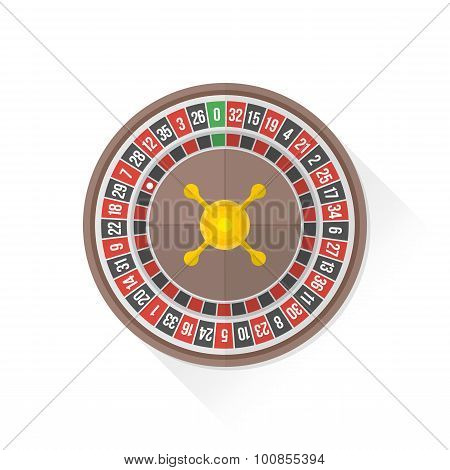 Color Playing Roulette Icon Illustration.