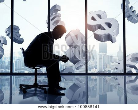 Businessman And Dollar Symbol