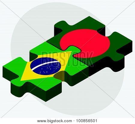 Brazil And Bangladesh Flags