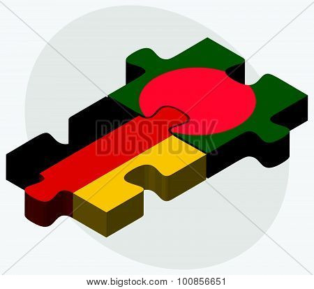 Germany And Bangladesh Flags