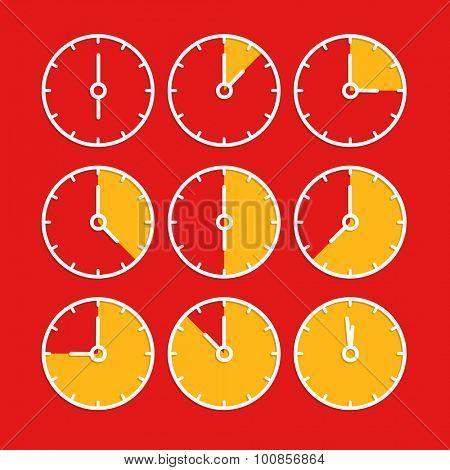 Vector chronometer clip-art. Flat design elements
