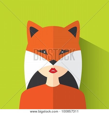 A Girl Dressed As A Fox Avatar