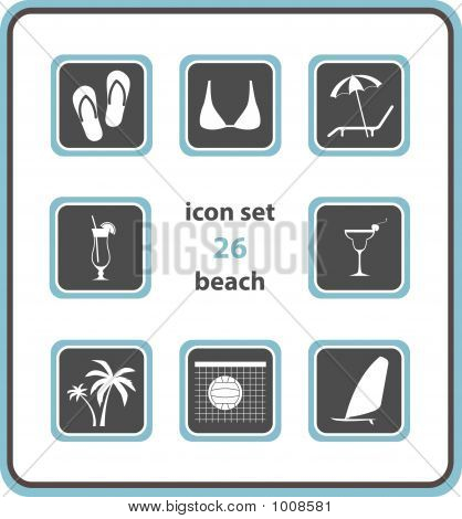 Vector Icon Set 26: Beach