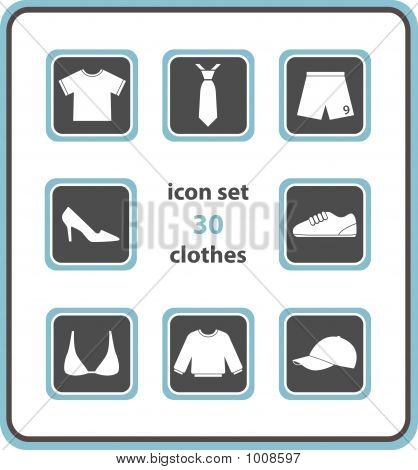 Vector Icon Set 30: Clothes