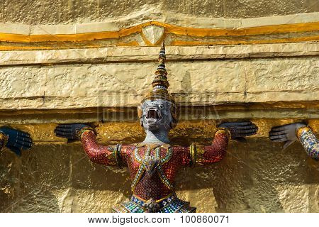 One Demon And Golden Stupa