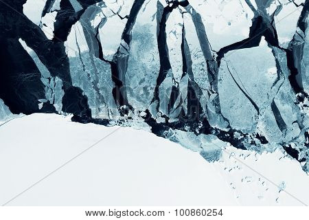 Glaciers of Greenland. Some graphics are provided by NASA.