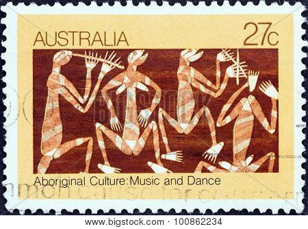 AUSTRALIA - CIRCA 1982: A stamp printed in Australia shows Mimi Spirits Dancing