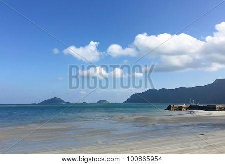 Beautiful white sand beach