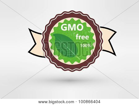 Made with Non - GMO ingredients grunge rubber stamp, vector illustration