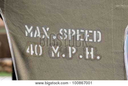 Max Speed 40 MPH