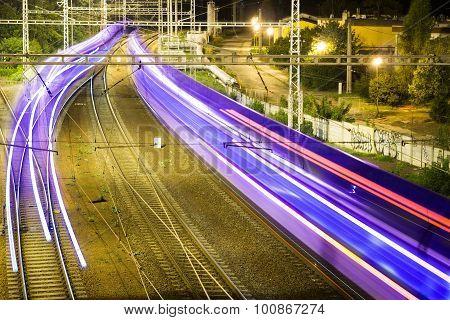 Line Passing Train
