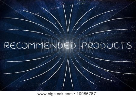 Recommended Products (retro Rays Illustration)