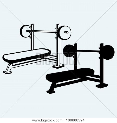 Weight bench for chest flat