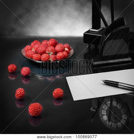 Still Life With Strawberry Love Confession