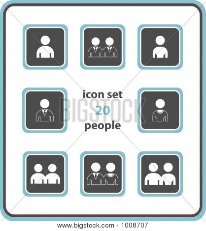Vector Icon Set 20: People