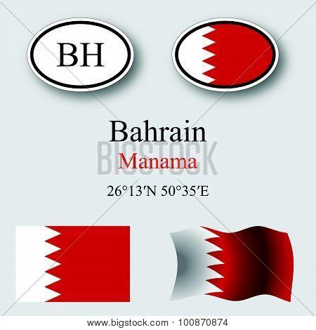 Bahrain Icons Set