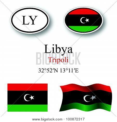 Libya Icons Set