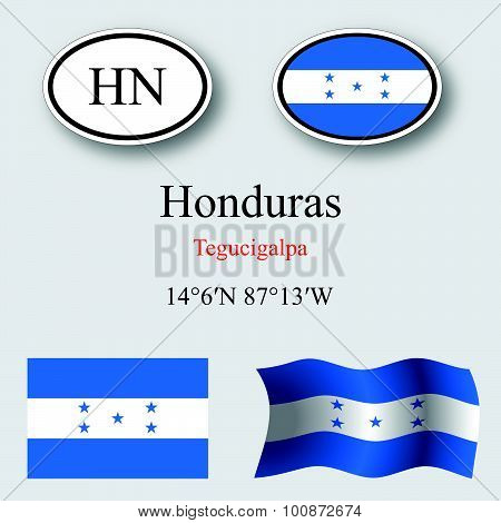 Honduras Icons Set