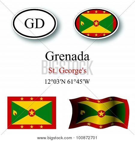 Grenada Icons Set