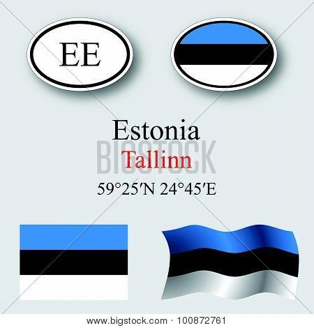 Estonia Icons Set