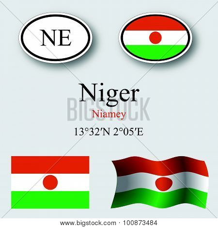 Niger Icons Set