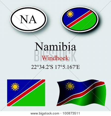 Namibia Icons Set