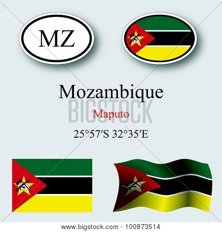 Mozambique Icons Set