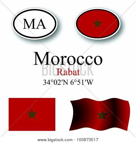 Morocco Icons Set