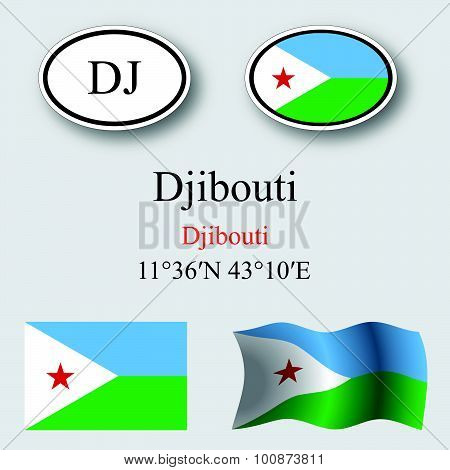 Djibouti Icons Set
