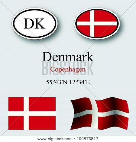 Denmark Icons Set