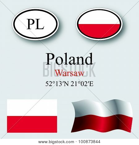 Poland Icons Set