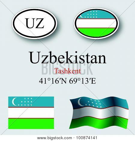 Uzbekistan Icons Set